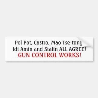Ansiktena av vapenkontroll… bildekal