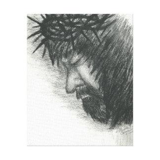 Ansiktet av Kristus Canvastryck