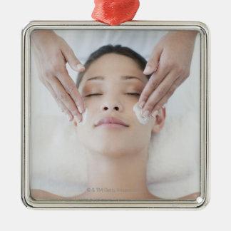 Ansikts- massage för kvinnahäleri julgransprydnad metall