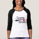 Anslags- kvinna för lag Raglan - storlekt stort T Shirt