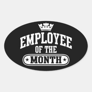 Anställd av månaden ovalt klistermärke