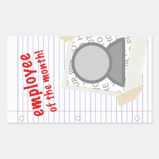 anställd av månaden rektangulärt klistermärke