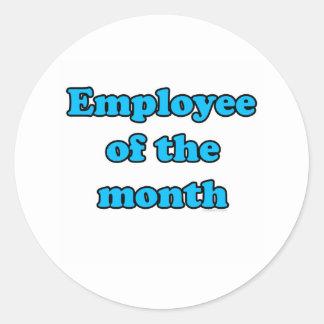 anställd av månaden runt klistermärke