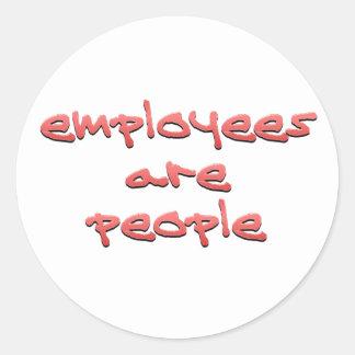 Anställda är folk för runt klistermärke