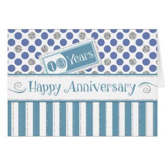 Anställdårsdag 10 år Jadeblått Hälsningskort