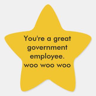 Anställdklistermärke Stjärnformat Klistermärke