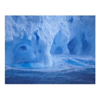 Antarktis. Isberget med avbrott vinkar Vykort