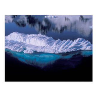Antarktis paradisfjärd. Isberg i kristall Vykort
