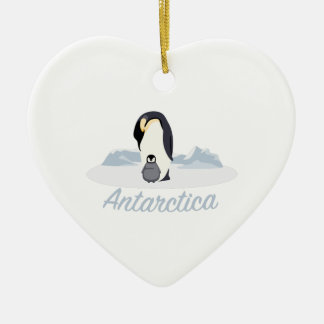 Antarktis pingvin julgransprydnad keramik