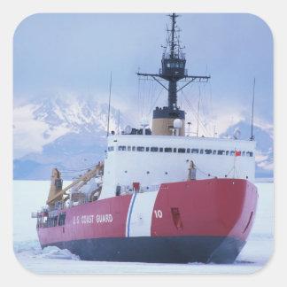 Antarktis Ross ö, McMurdo station, USCG Fyrkantigt Klistermärke