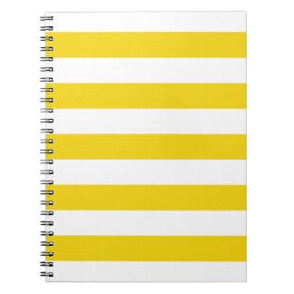 Anteckningsblock för mönster för randar för spiralbundna anteckningsböcker