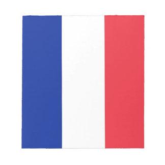 Anteckningsblock med flagga av frankriken