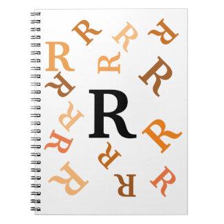 Anteckningsbok - dråsade orangebrev