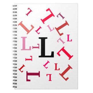 Anteckningsbok - dråsade röda brev
