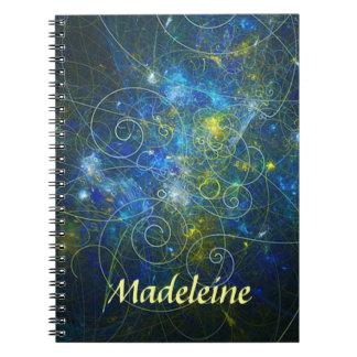 Anteckningsbok för blått- och guldpersonligspiral