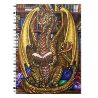 Anteckningsbok för bokWyrm läs- drake