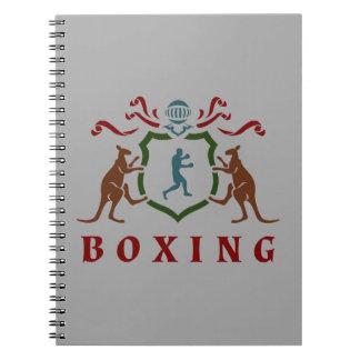 Anteckningsbok för boxningkängurusköld