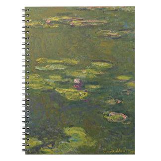 Anteckningsbok för Claude Monet näckrosdamm