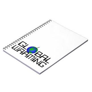Anteckningsbok för global värme