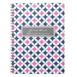 Anteckningsbok för grått för blått för rosor för b