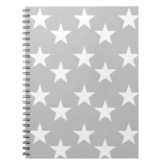 Anteckningsbok för grått- och vitstjärnatryck
