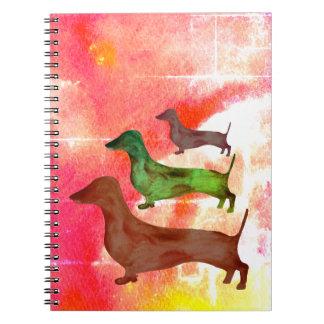 Anteckningsbok för illustration för konst för