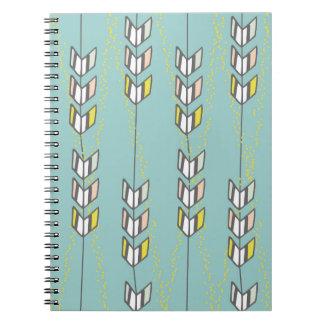 Anteckningsbok för illustration för sparrepilar