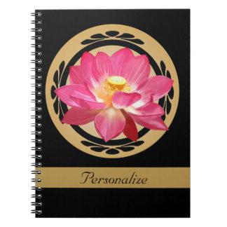 Anteckningsbok för lotusblommablommarosor