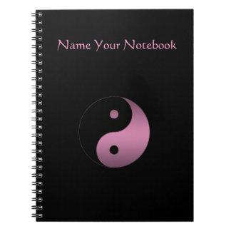 Anteckningsbok för personligYin Yang symbol
