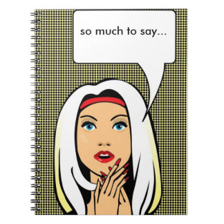 anteckningsbok för popkonstflicka