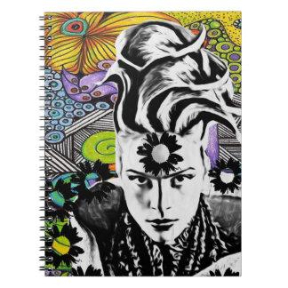 Anteckningsbok för Psychodelic popkvinna