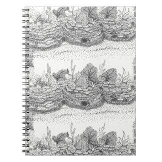 Anteckningsbok för spiral för illustration för