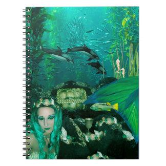 Anteckningsbok för undervattens- skatter för