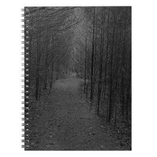 Anteckningsbok - grått för naturslingamönster