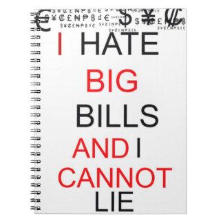 """Anteckningsbok - """"hatar jag stora räkningar, och j"""