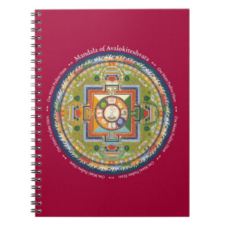 ANTECKNINGSBOK - Mandala av Chenrezig med Mantra