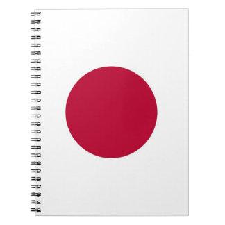 Anteckningsbok med flagga av Japan