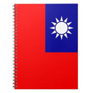 Anteckningsbok med flagga av Taiwan
