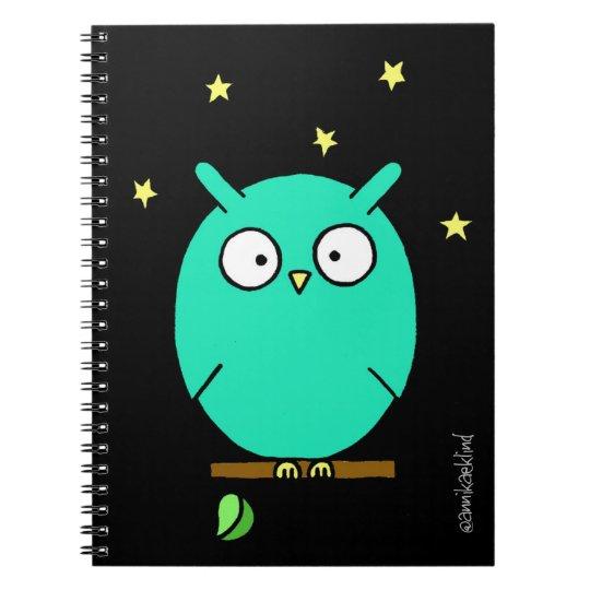 Anteckningsbok med nattuggla / Night Owl Notebook