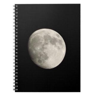 Anteckningsbok/personlig journal - fullmåne på mör spiral anteckningsböcker