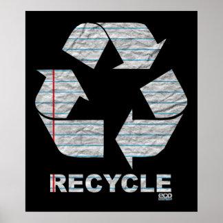 Anteckningsbokåtervinnaaffisch Affisch