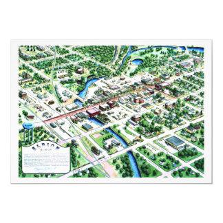 Antennen beskådar av Albion Michigan 1993 12,7 X 17,8 Cm Inbjudningskort