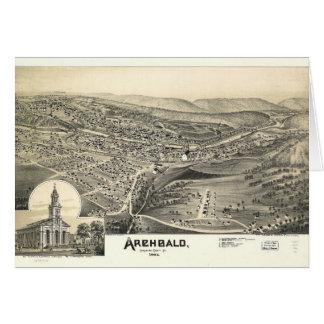 Antennen beskådar av Archbald, Pennsylvania (1892) Hälsningskort