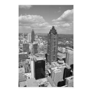 Antennen beskådar av Atlanta, Georgia Fotografiskt Tryck