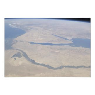 Antennen beskådar av egyptenen och Sinaien Fotografiskt Tryck