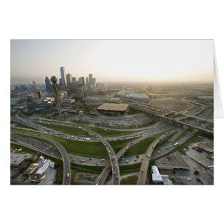 Antennen beskådar av i stadens centrum Dallas, Hälsningskort