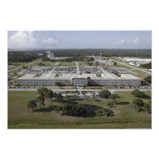 Antennen beskådar av Kennedy som utrymme centrerar Fototryck