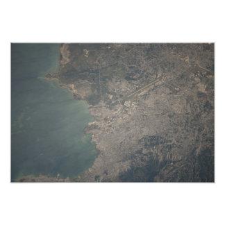 Antennen beskådar av Port-au-Princen området av Fototryck