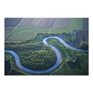 Antennen beskådar av Redet River av norden Fototryck