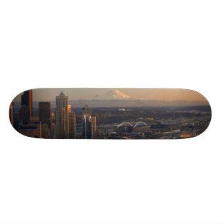 Antennen beskådar av Seattle stadshorisont 2 Skateboard Bräda 19,5 Cm